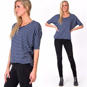 Chaser • NWT Striped Dolman Tee Navy